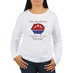 Tax Cut Pig Women's Long Sleeve T-Shirt