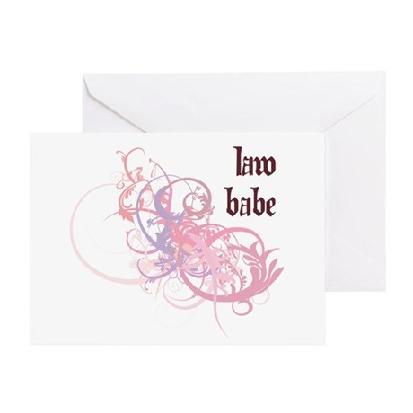 Law Babe Greeting Card