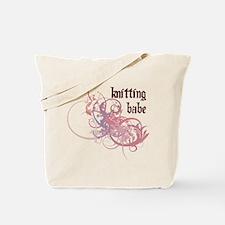 Knitting Babe Tote Bag