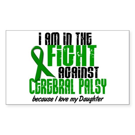 In The Fight Against CP 1 (Daughter) Sticker (Rect