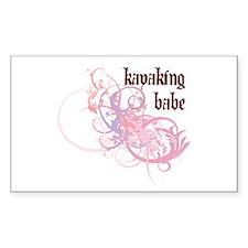 Kayaking Babe Rectangle Decal