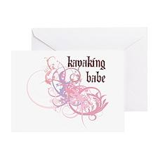 Kayaking Babe Greeting Card