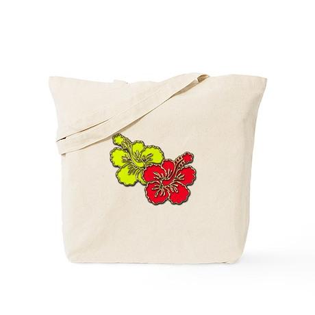 Tropical Hibiscus Set Tote Bag