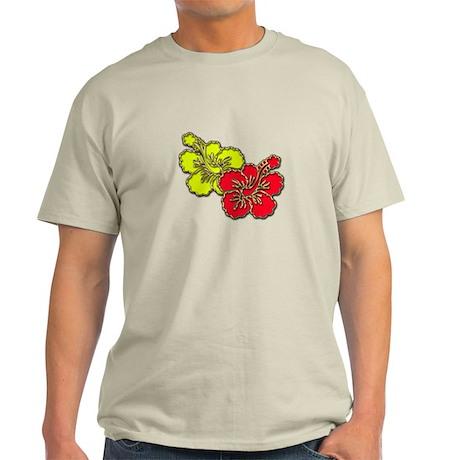 Tropical Hibiscus Set Light T-Shirt