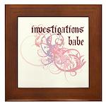 Investigations Babe Framed Tile