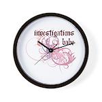 Investigations Babe Wall Clock