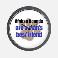 Afghan Hounds man's best friend Wall Clock