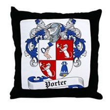 Porter Family Crest Throw Pillow