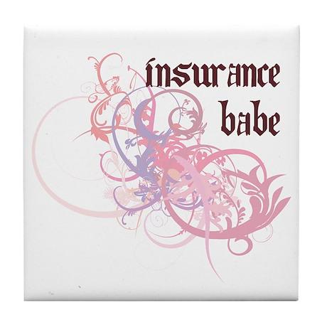 Insurance Babe Tile Coaster