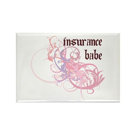 Insurance Babe Rectangle Magnet