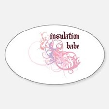 Insulation Babe Oval Decal
