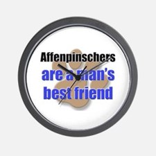 Affenpinschers man's best friend Wall Clock