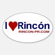I Love Rincon Oval Decal