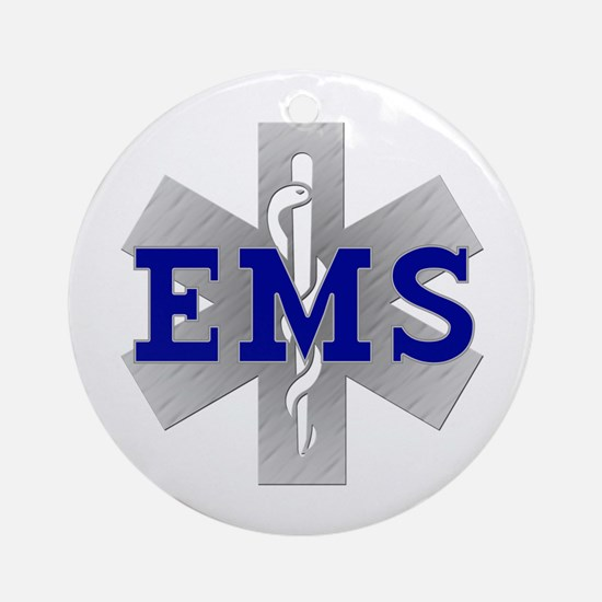 EMS Star of Life Ornament (Round)