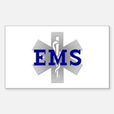 EMS Star of Life Rectangle Decal