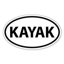KAYAK Oval Bumper Stickers