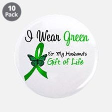 """Organ Donor Gift 3.5"""" Button (10 pack)"""