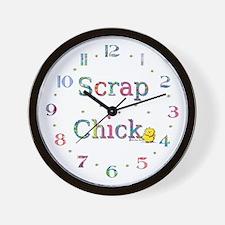 Scrap Chick Wall Clock