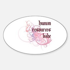 Human Resources Babe Oval Decal