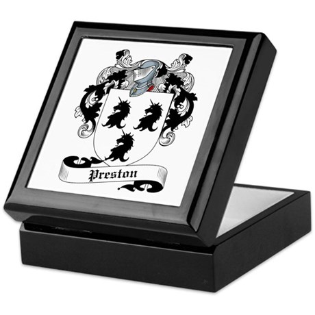 Preston Family Crest Keepsake Box