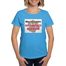 Wire Fox Terriers woman's best friend Tee