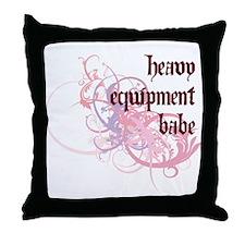 Heavy Equipment Babe Throw Pillow