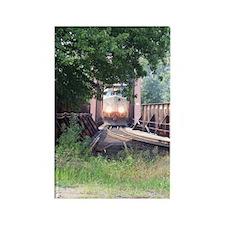 Train On a Bridge, N.S. RR Rectangle Magnet