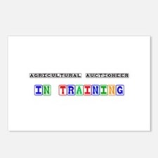 Agricultural Auctioneer In Training Postcards (Pac