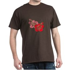 Pink and Red Hibiscus T-Shirt