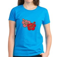 Pink and Red Hibiscus Tee