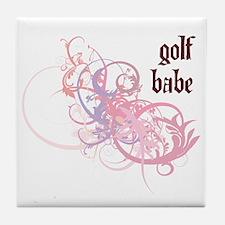Golf Babe Tile Coaster
