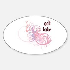 Golf Babe Oval Decal