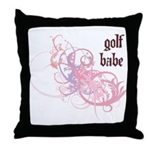 Golf Babe Throw Pillow