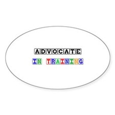 Advocate In Training Oval Decal