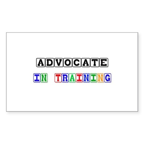 Advocate In Training Rectangle Sticker
