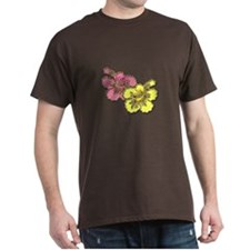 Yellow Pink Hibiscus T-Shirt