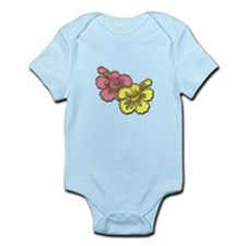 Yellow Pink Hibiscus Infant Bodysuit