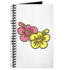 Yellow Pink Hibiscus Journal
