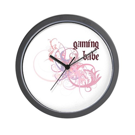 Gaming Babe Wall Clock