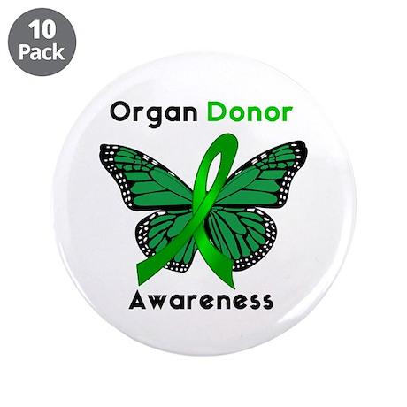"Organ Donation 3.5"" Button (10 pack)"
