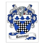 Ramage Family Crest Small Poster