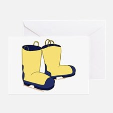 Cute Rain Boots Picture 2 Greeting Card