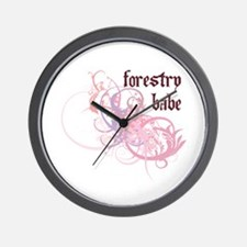 Forestry Babe Wall Clock
