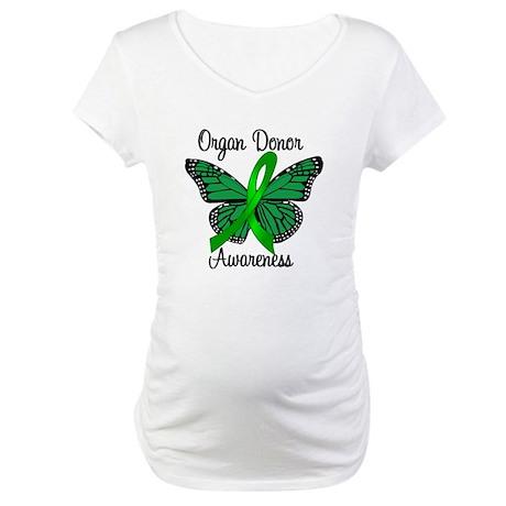 I Wear Green Gift of Life Maternity T-Shirt
