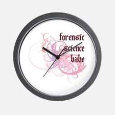 Forensic Science Babe Wall Clock