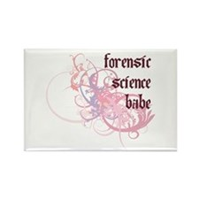 Forensic Science Babe Rectangle Magnet