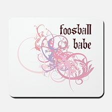 Foosball Babe Mousepad