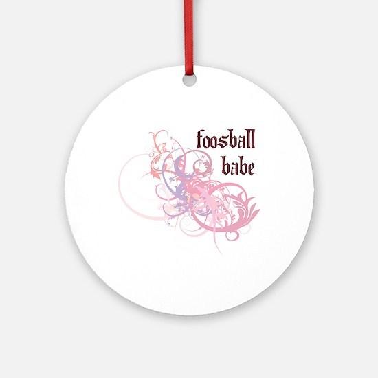 Foosball Babe Ornament (Round)
