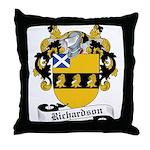 Richardson Family Crest Throw Pillow