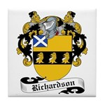 Richardson Family Crest Tile Coaster